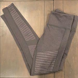 All yoga moto legging workout pant grey